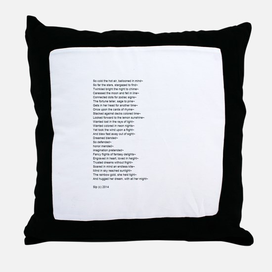 Cute Poem Throw Pillow
