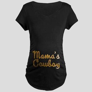 Mama's Cowboy Maternity Dark T-Shirt