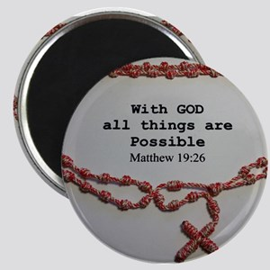 With God all things are Possible Magnets