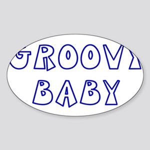 Groovy Baby Oval Sticker