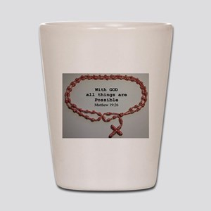 With God all things are Possible Shot Glass