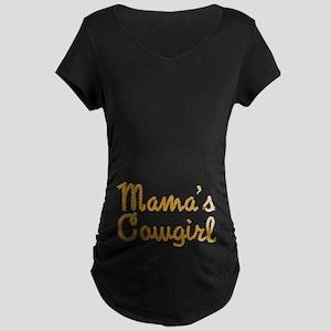 Mama's Cowgirl Maternity Dark T-Shirt