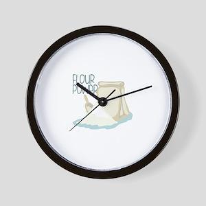 Flour Power Wall Clock