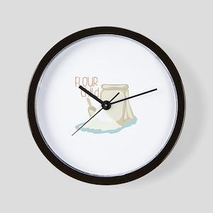 Flour Child Wall Clock