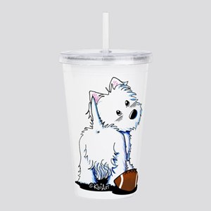 Tailgating Westie Acrylic Double-wall Tumbler