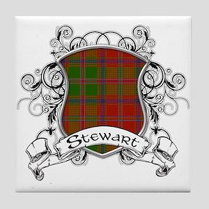 Stewart Tartan Shield Tile Coaster