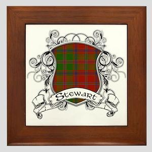Stewart Tartan Shield Framed Tile