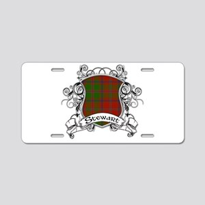 Stewart Tartan Shield Aluminum License Plate