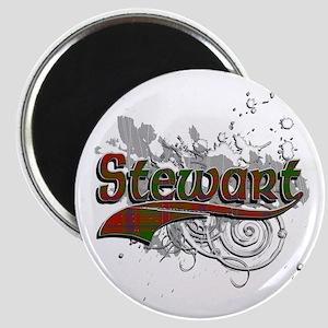 Stewart Tartan Grunge Magnet