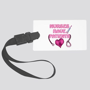 Nurses Have Patients Pink Heart Luggage Tag