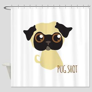 Pug Shot Shower Curtain