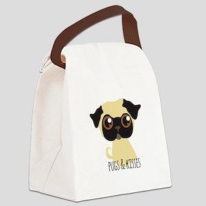 Pugs & Kisses Canvas Lunch Bag