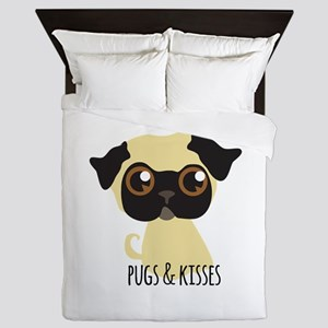 Pugs & Kisses Queen Duvet