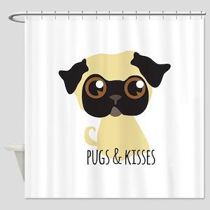 Pugs & Kisses Shower Curtain