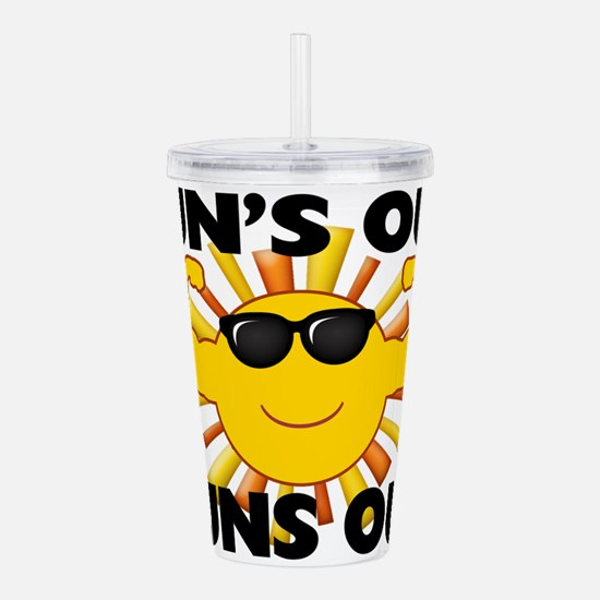 Sun's Out Guns Out Acrylic Double-wall Tumbler