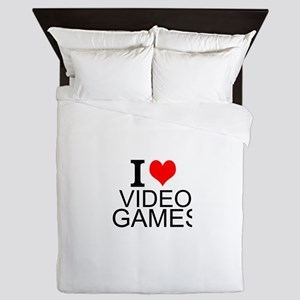I Love Video Games Queen Duvet