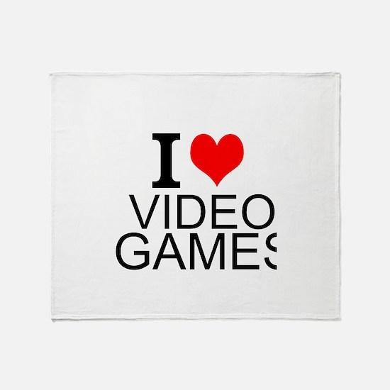 I Love Video Games Throw Blanket