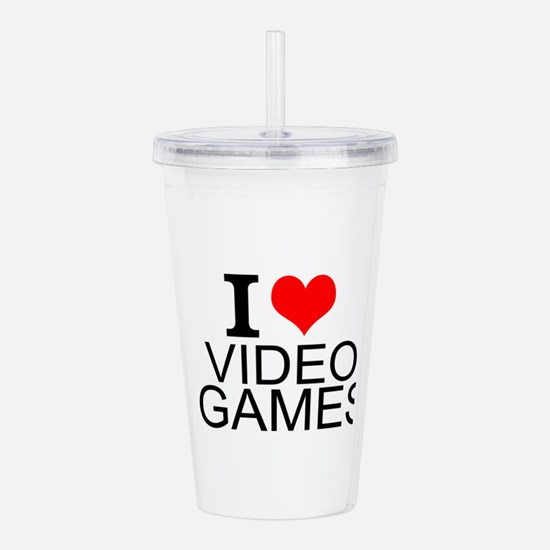 I Love Video Games Acrylic Double-wall Tumbler