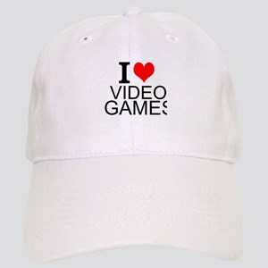 I Love Video Games Baseball Cap
