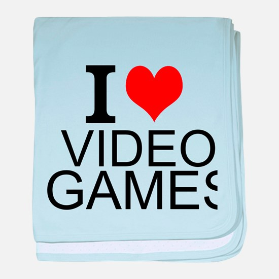 I Love Video Games baby blanket