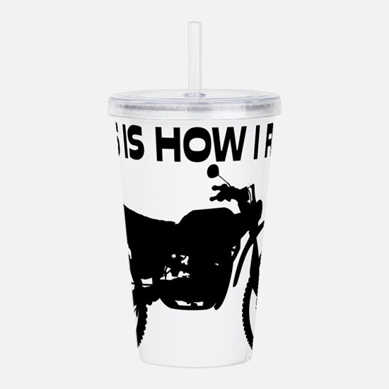 Funny Motorcycles Acrylic Double-wall Tumbler