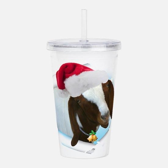Unique Christmas goat Acrylic Double-wall Tumbler