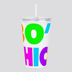 Neon Colors 80's Chick Acrylic Double-wall Tumbler