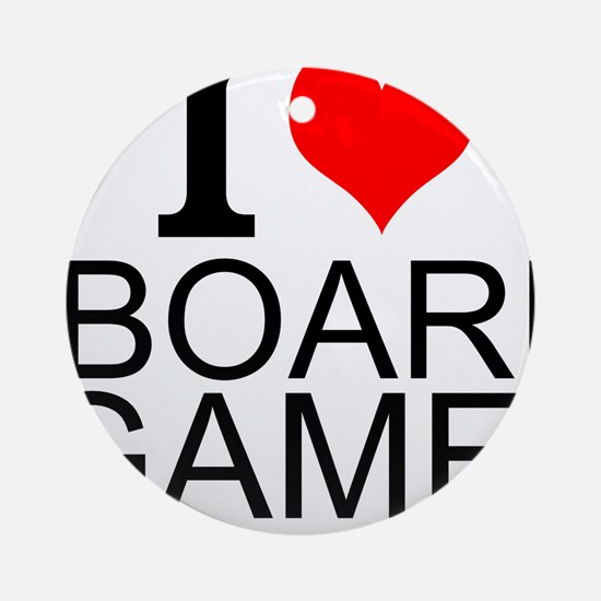 I Love Board Games Ornament (Round)