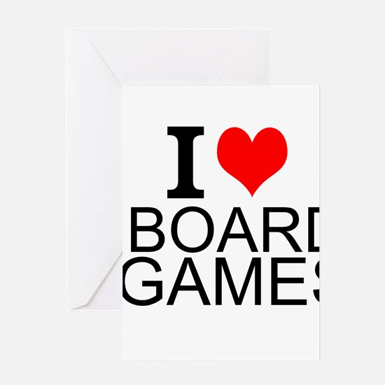 I Love Board Games Greeting Cards