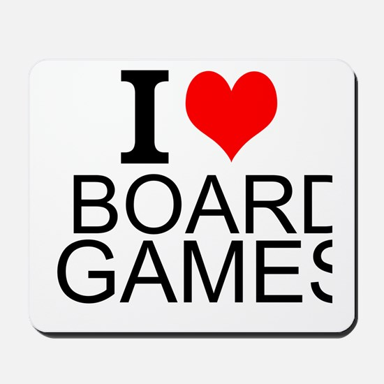 I Love Board Games Mousepad