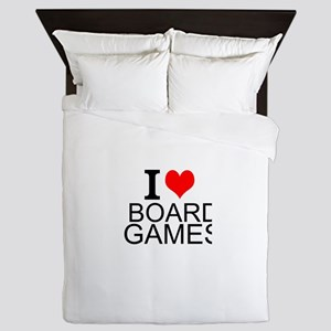 I Love Board Games Queen Duvet