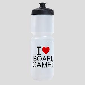 I Love Board Games Sports Bottle