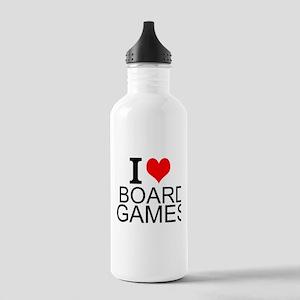 I Love Board Games Water Bottle