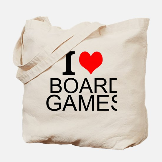 I Love Board Games Tote Bag