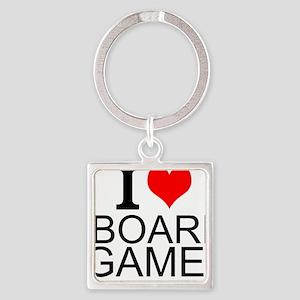 I Love Board Games Keychains