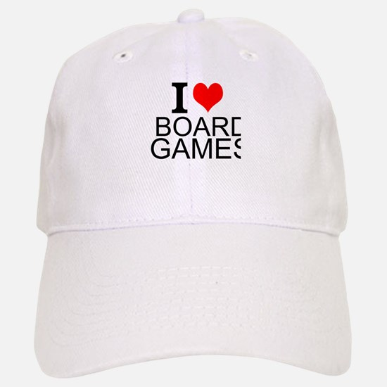 I Love Board Games Baseball Baseball Baseball Cap