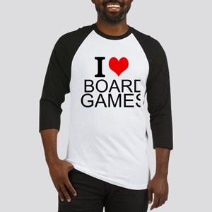 I Love Board Games Baseball Jersey