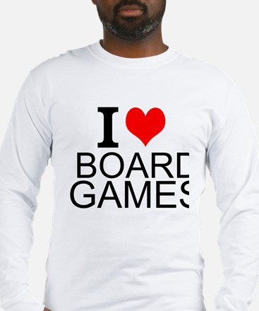 I Love Board Games Long Sleeve T-Shirt