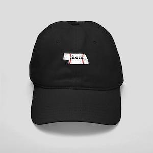 Teeball Mom Shirt Nebraska Sh Black Cap with Patch