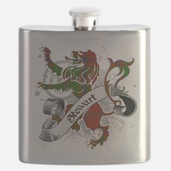 Stewart Tartan Lion Flask