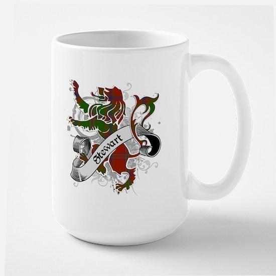 Stewart Tartan Lion Large Mug