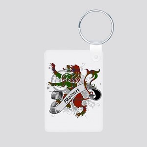 Stewart Tartan Lion Aluminum Photo Keychain