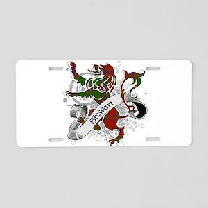 Stewart Tartan Lion Aluminum License Plate