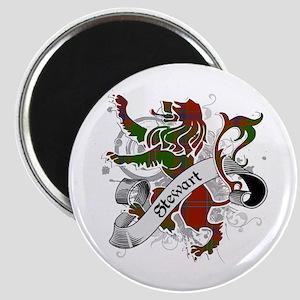 Stewart Tartan Lion Magnet