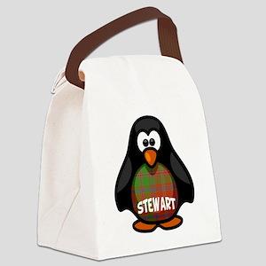 Stewart Tartan Penguin Canvas Lunch Bag