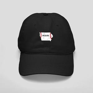 T Ball Mom Shirt Iowa Tee Bal Black Cap with Patch
