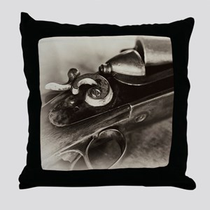 Vintage Shotgun Throw Pillow