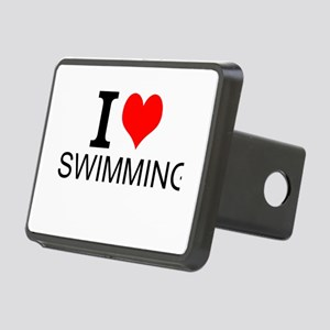 I Love Swimming Hitch Cover