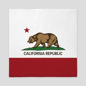 California Flag - Plain Queen Duvet