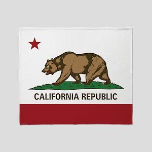 California Flag - Plain Throw Blanket